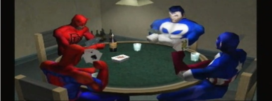 must suck to be daredevil, having to play along with his superhero buddies in cards when he's ACTUALLY BLIND