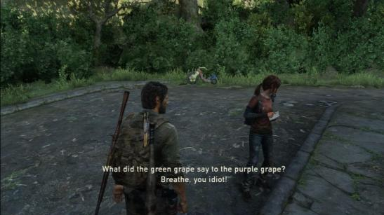 SPOILERS: Joel doesn't laugh, the bastard