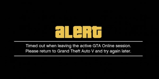 gta online timed out