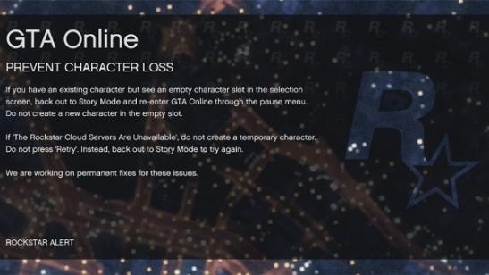 gtao character loss