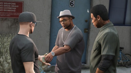 it's GTA's modern ghetto version of laurel and hardy!