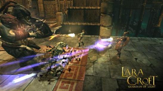 lara croft guardian of light gatling gun
